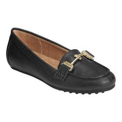 Women's A2 by Aerosoles Test Drive Loafer Black Faux Leather