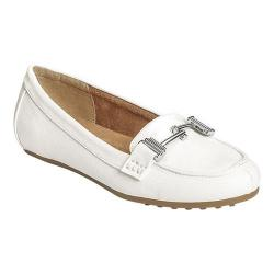Women's A2 by Aerosoles Test Drive Loafer White Faux Leather