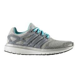 Women's adidas Energy Cloud V Running Shoe Medium Grey Heather/Silver Metallic/Easy Mint