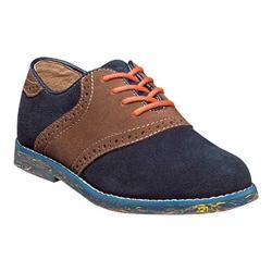 Boys' Florsheim Kennett Jr. II Saddle Oxford Dark Blue Multi Suede