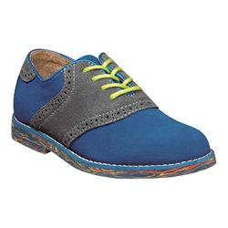 Boys' Florsheim Kennett Jr. II Saddle Oxford Electric Blue Multi Suede (More options available)