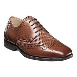 Boys' Florsheim Reveal Wingtip Jr. Saddle Tan Leather