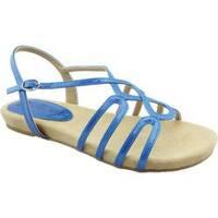 Women's Bellini Nadine Strappy Slingback Sandal Blue Patent Polyurethane