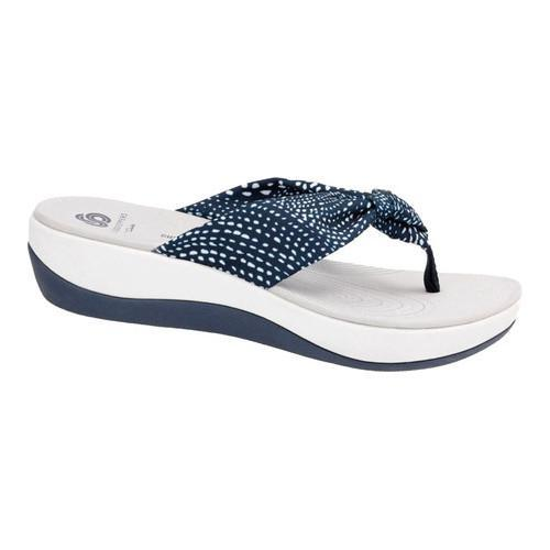 29134718a Shop Women s Clarks Arla Glison Thong Sandal Navy White Dots Fabric - Free  Shipping Today - Overstock - 14201550