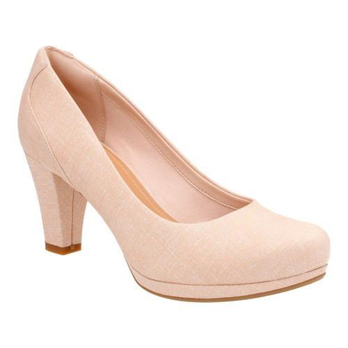 4d56f3e3cd83 Shop Women s Clarks Chorus Chic Pump Nude Interest Leather - Free Shipping  Today - Overstock - 14201438