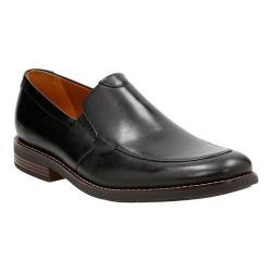Men's Clarks Becken Step Apron Toe Loafer Black Leather