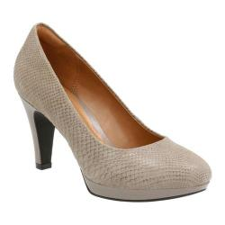 Women's Clarks Brier Dolly Sage Snake Print Suede Leather