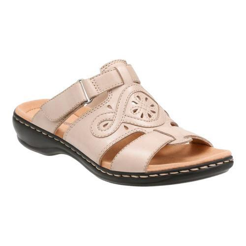 4a71a0a544b Shop Women s Clarks Leisa Higley Slide Sand Leather - Free Shipping Today -  Overstock - 14201466