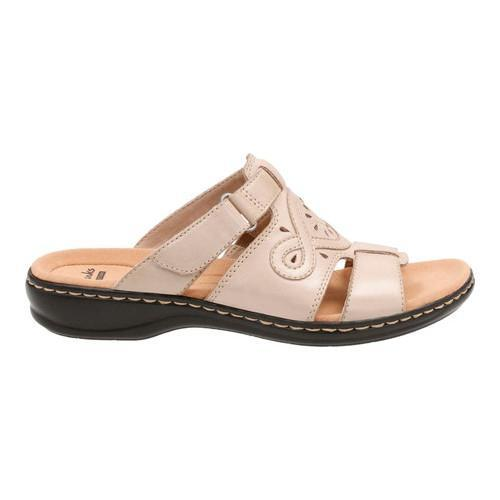 83824416337f Shop Women s Clarks Leisa Higley Slide Sand Leather - Free Shipping Today -  Overstock - 14201466