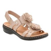 Women's Clarks Leisa Claytin Strappy Sandal Sand Leather