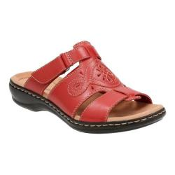 Women's Clarks Leisa Higley Slide Red Leather