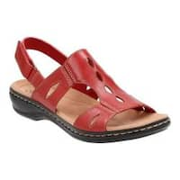 Women's Clarks Leisa Lakelyn Cutout Slingback Red Leather