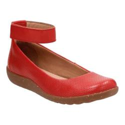 Women's Clarks Medora Nina Ankle Strap Shoe Red Leather