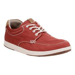 Men's Clarks Norwin Vibe Red Textile - Thumbnail 0