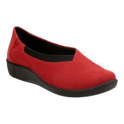 Women's Clarks Sillian Jetay Red Textile