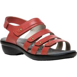 Women's Propet Aurora Strappy Slingback Sandal Coral Full Grain Leather (More options available)