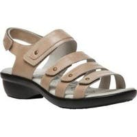 Women's Propet Aurora Strappy Slingback Sandal Oyster Full Grain Leather