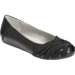 Women's Aerosoles Spin Cycle Ballet Flat Black Faux Leather