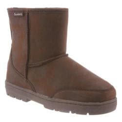 Men's Bearpaw Patriot Solids Mid Calf Boot Chocolate II Cow Suede