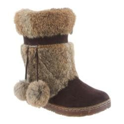 Women's Bearpaw Tama II Solids Mid Calf Boot Chocolate II Rabbit Fur