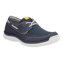 Men's Clarks Marus Edge Boat Shoe Navy Textile