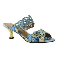 Women's J. Renee Francie Dress Slide Blue Multi Geometric Asian Floral Fabric