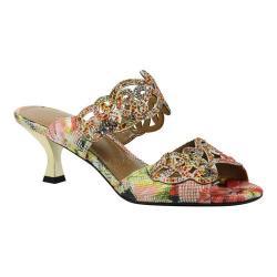 Women's J. Renee Francie Dress Slide Coral Multi Geometric Asian Floral Fabric