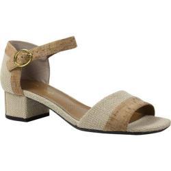 Women's J. Renee Pebblebeach Ankle Strap Sandal Natural Linen/Cork