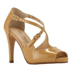 Women's Rose Petals by Walking Cradles Lissa Ankle Strap Sandal Nude Patent Leather