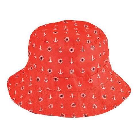 Children's San Diego Hat Company Reversible Bucket Hat CTK4153 Navy/Red