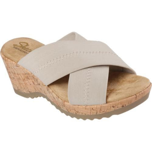 Women's Skechers Bohemias Flower Crown Slide Natural
