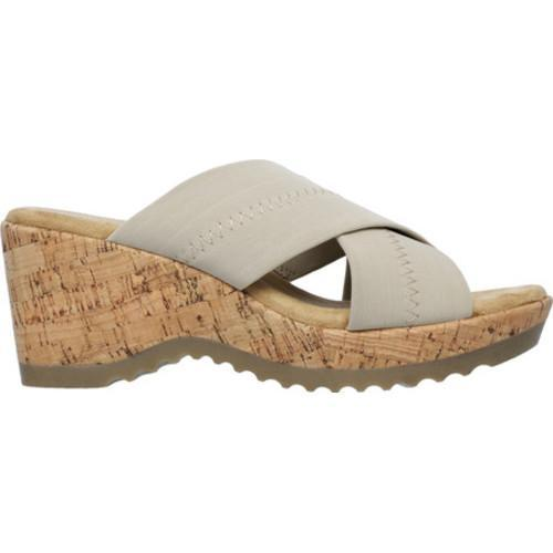 Women's Skechers Bohemias Flower Crown Slide Natural - Thumbnail 1