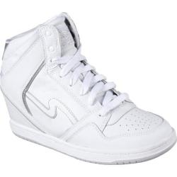 Women's Skechers OG 80 Swag High Top Wedge Sneaker White