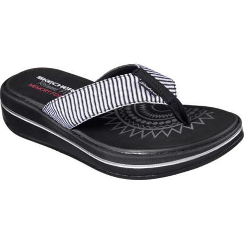 ef34c84cd Shop Women s Skechers Relaxed Fit Upgrades Sailin Thong Sandal Black ...