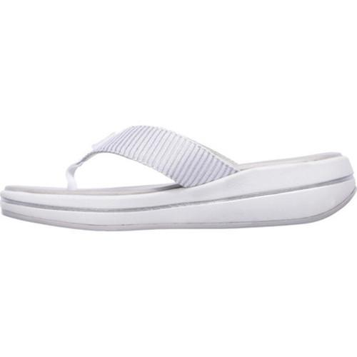 9eebd4d114e3 ... Thumbnail Women  x27 s Skechers Relaxed Fit Upgrades Sailin Thong  Sandal White Silver