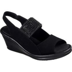 Women's Skechers Rumblers Sparkle On Wedge Sandal Black