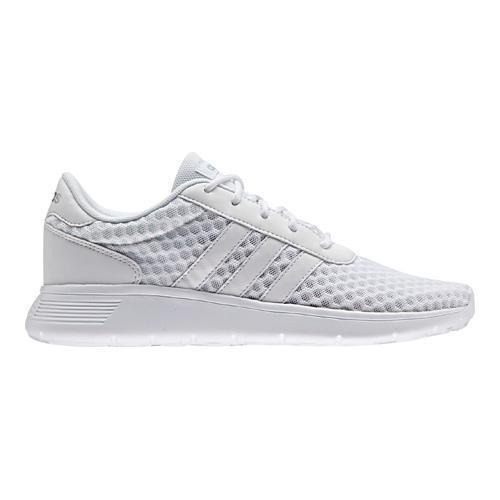 Women's adidas NEO Lite Racer Sneaker FTWR White/FTWR White/Matte Silver