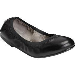 Women's Aerosoles Fable Ballet Flat Black Leather/Elastic