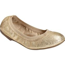 Women's Aerosoles Fable Ballet Flat Champagne Leather/Elastic