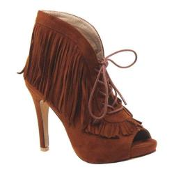 Women's Luichiny Pumped Up Bootie Cognac Imi Suede https://ak1.ostkcdn.com/images/products/167/899/P20814864.jpg?impolicy=medium