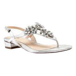 Women's Pink Paradox London Flame Thong Sandal Silver Synthetic