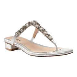 Women's Pink Paradox London Peyton T Strap Sandal Silver Synthetic