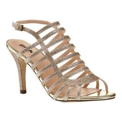 Women's Pink Paradox London Skylar Cage Shoe Gold Synthetic
