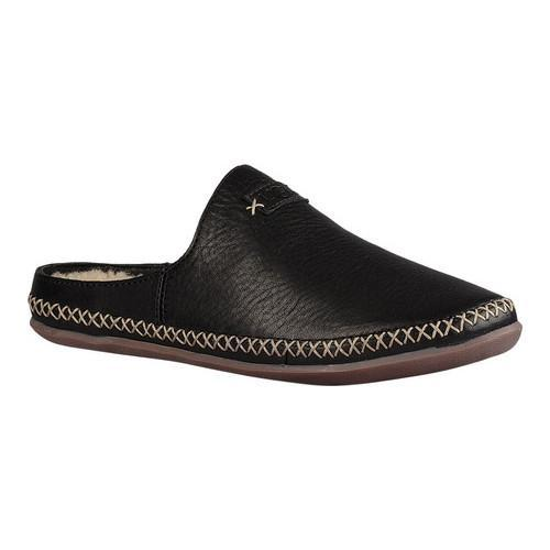 17ab5b7f3bb8 Shop Women s UGG Tamara Slipper Black Leather - Free Shipping Today -  Overstock - 14222770