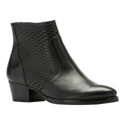 Women's Walking Cradles Gracie Bootie Black Accordian Perfed Leather