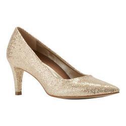 Women's Walking Cradles Sophia Pump Gold Sparkle Fabric