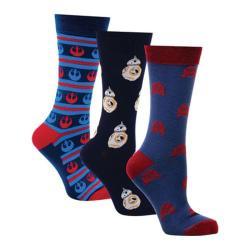 Cufflinks Inc Rebel Droids 3-Pair Sock Gift Set Multi