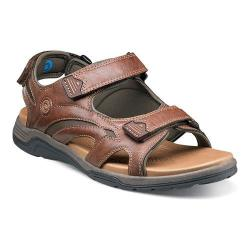 Men's Nunn Bush Mojave Sandal Cognac Synthetic Crazy Horse