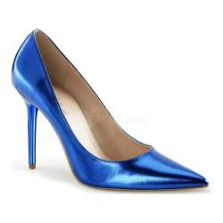 Women's Pleaser Classique 20 Pump Blue Metallic Polyurethane