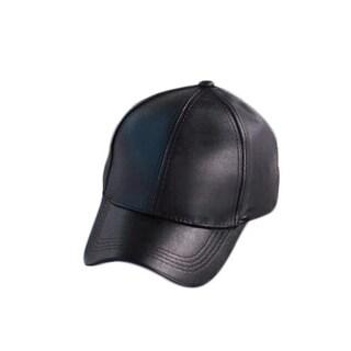 Faux Leather cap (Option: Turquoise)